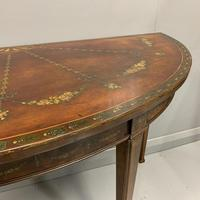 18th Century Decorated Demi-lune Console Table (2 of 11)