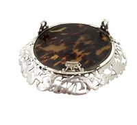 Antique Victorian Sterling Silver & Tortoiseshell Tray / Dish 1888 (7 of 9)