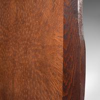 Antique Embossed Fire Screen, Oak, Leather, Fireside, Arts & Crafts, Edwardian (11 of 12)