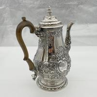 George IV Sterling Silver Coffee Pot London 1824 Timothy Smith & Thomas Merryweather (5 of 12)