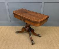 Regency Period Inlaid Rosewood Card Table (9 of 20)