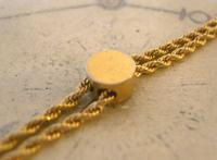 Edwardian Ladies Pocket Watch Guard Chain 1900 Antique 12 Gold Filled (7 of 10)