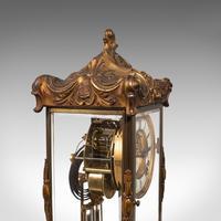 Antique Mantel Clock, French, Gilt Bronze, Ormolu, Brocot Escapement, Circa 1900 (6 of 12)