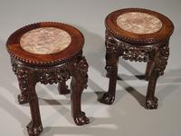 Good Pair of Late 19th Century Oriental Teak Stands (3 of 7)