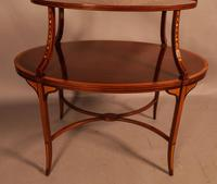 Mahogany Etegair with Marquetry Inlay (7 of 11)