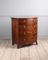 George III Mahogany Bowfront Chest of Drawers