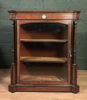 Superb ebonized and amboyna glazed pier cabinet (3 of 8)