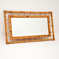 1970's Vintage Bamboo Frame Mirror (2 of 8)