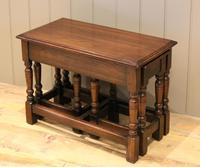 Solid Oak Nest of Tables (10 of 11)