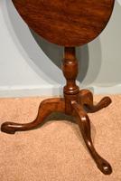 George III Oak Tilting Lamp / Wine Table (3 of 5)