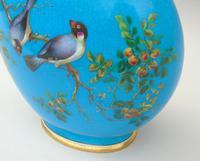 Minton Porcelain Moon Flask William Mussill 1875 Bleu Celeste (7 of 10)