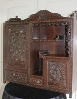 Antique Japanese Carved Wood Tabletop Cabinet c.1900 (3 of 15)