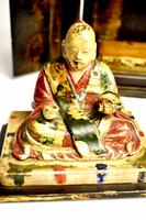 Travelers 19th Century Japanese Buddha/ deity in black lacquered case (2 of 10)