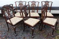 1900's Quality Mahogany Set of 6 Georgian style Dining Chairs with Pop out Seats (3 of 4)