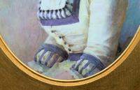 Fine Quality 19th Century Antique English Porcelain Plaque Portrait Painting c.1870 (5 of 11)