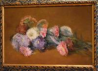 French still life oil painting of flowers (3 of 7)