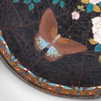 Antique Decorative Plate, Japanese, Cloisonne, Fruit, Serving Dish, Victorian (7 of 9)