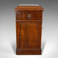 Tall Antique Side Cabinet, English, Mahogany, Bedside, Nightstand, Regency, 1820 (9 of 12)