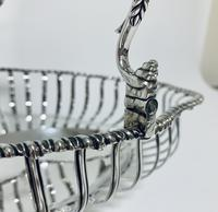 Antique Georgian 18th Century Solid Silver Swing Handle Bread Basket 1774 (13 of 19)