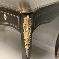 French black lacquer and brass bureau plat (11 of 11)