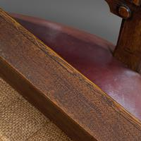 Pair of Antique Chairs, Walnut, Leather, Seat, Doveston, Bird & Hull, Victorian (12 of 12)
