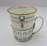 Aynsley Bone China Coffee Cup & Saucer, Silver Mount, Manoah Rhodes & Sons Ltd London 1933 (2 of 7)