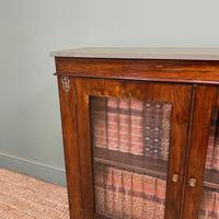 Quality Victorian Rosewood Antique Glazed Display Cabinet / Bookcase (8 of 9)