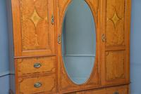 Stunning Victorian Satinwood & Marquetry Compactum Wardrobe (22 of 24)