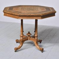 Victorian Walnut & Inlaid Games Table (10 of 10)