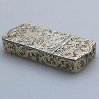 Fine Double Opening Novelty Solid Silver / Parcel Gilt Snuff Box Mazeppa 19th Century