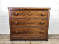 Victorian Mahogany Chest of Three Drawers (7 of 14)