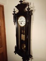 Ebonised Vienna Wall Clock. Gebruder Resch (2 of 7)