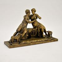 Antique Carved Wood Classical Sculpture (2 of 12)