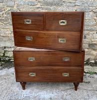 Antique Military Campaign Teak Chest of Drawers (13 of 21)