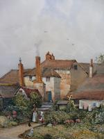 Pair of Watercolours Cottages in Kent Listed Artist Will Anderson (2 of 10)