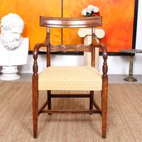 Armchair Fruitwood Desk Library Chair 19th Century Victorian Carved (2 of 11)