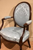 George III Mahogany Oval Back Armchair (5 of 6)