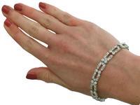 5.25ct Diamond & Platinum Bracelet - Art Deco c.1925 (10 of 12)