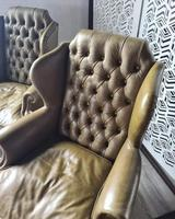 Pair of Leather Wing Chairs (3 of 10)