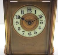 Fine Antique French 8-day Serpentine Fleur De Lis Decorated Panel 8-day Carriage Clock Timepiece c.1890 (7 of 10)