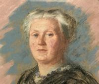 Fine Quality Early 20th Century Oval Pastel Portrait Painting Inc London Gallery Label (3 of 12)
