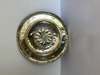 Large Antique Circular Brass Alms Dish (2 of 6)