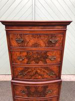 Antique Slim Burr Walnut Chest on Chest (2 of 8)
