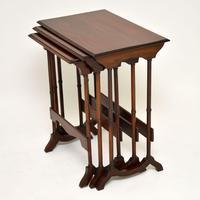 Antique Mahogany Nest of Three Tables (3 of 9)