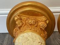 Dutch Golden Age Style Gilt Harvest Relief Plinth Display Torcheres (13 of 87)