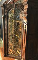 Victorian Carved Oak Secretaire Bookcase (7 of 25)