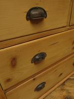 Antique Victorian Rustic Pine Nautical Boat Yard Chest of Drawers, sink unit (7 of 12)