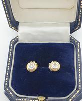 Two Tone Gold Diamond Studs (4 of 5)