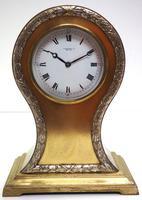 Impressive Ormolu Edwardian Balloon Timepiece Mantel Clock by Preston's Bolton