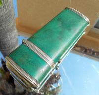 Rare Absolutely Stunning Georgian Solid Silver & Green Shagreen Etui Case    c1760 (11 of 13)